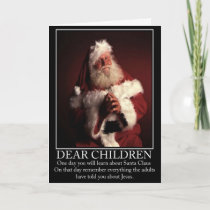 Funny atheist Santa Holiday Card