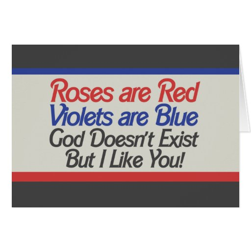 funny atheist valentine greeting card