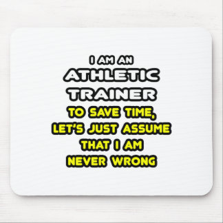 Funny Athletic Trainer T-Shirts Mouse Pad