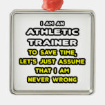 Funny Athletic Trainer T-Shirts Ornament