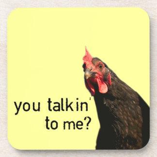 Funny Attitude Chicken Drink Coaster