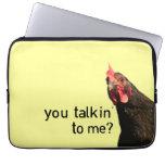 Funny Attitude Chicken Laptop Sleeve