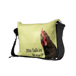 Funny Attitude Chicken Messenger Bag