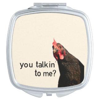 Funny Attitude Chicken Travel Mirrors