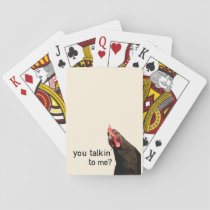 Funny Attitude Chicken Playing Cards