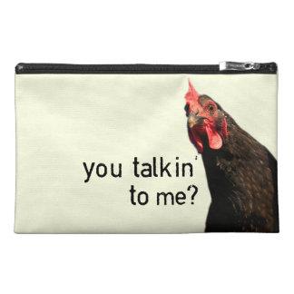 Funny Attitude Chicken Travel Accessory Bag