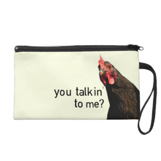 Funny Attitude Chicken Wristlet