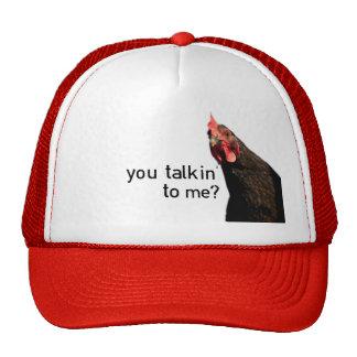 Funny Attitude Chicken - you talkin to me? Trucker Hat
