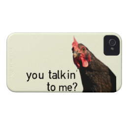 Funny Attitude Chicken - you talkin to me? iPhone 4 Case