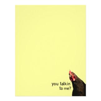 Funny Attitude Chicken - you talkin to me? Letterhead