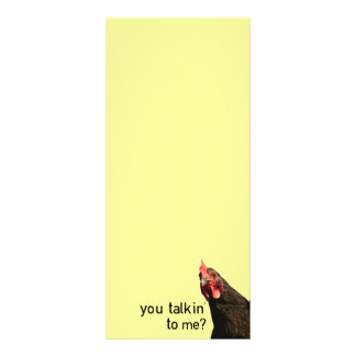 Funny Attitude Chicken - you talkin to me? Rack Card