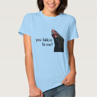 Funny Attitude Chicken - you talkin to me? T-Shirt