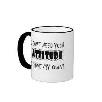 Funny Attitude T-shirts Gifts mug
