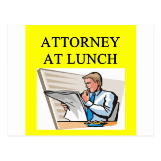 funny attorney lawyer joke postcard