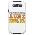 Funny Aunties Parties Worlds Greatest Aunt Beer Me Galaxy SIII Cases