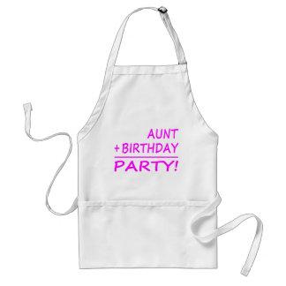 Funny Aunts Birthdays : Aunt + Birthday = Party Adult Apron