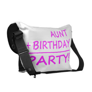 Funny Aunts Birthdays : Aunt + Birthday = Party Courier Bag