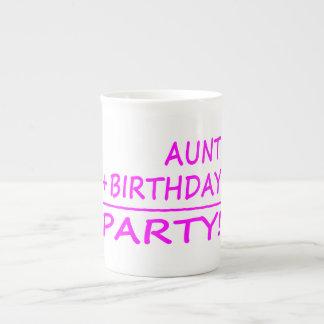 Funny Aunts Birthdays : Aunt + Birthday = Party Porcelain Mugs