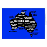 Funny Aussie map Cards