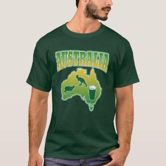 Funny Australia Sheep Kangaroos and Beer T-Shirt