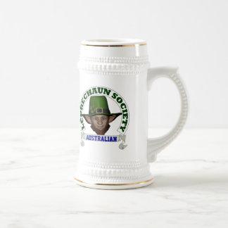Funny Australian leprechaun society Beer Stein