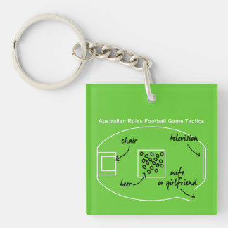 Funny Australian Rules Football game tactics, Keychain