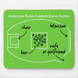 Funny Australian Rules Football game tactics, Mouse Pad