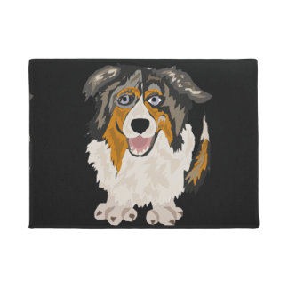 Funny Australian Shepherd Dog Art Doormat