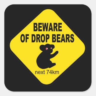 Funny Australian Sign Beware of Drop Bears Sticker
