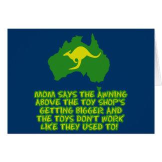 Funny Australian slang Greeting Cards