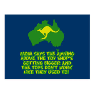 Funny Australian slang Postcard