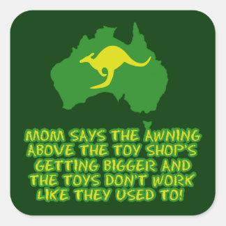 Funny Australian slang Square Sticker