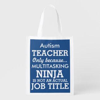 Funny Autism Special Needs Teacher Grocery Bag