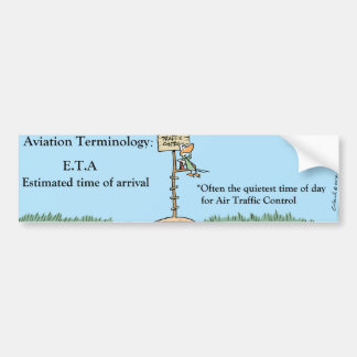 Funny Aviation Cartoon Bumper Sticker Car Bumper Sticker