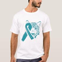 Funny Awareness Survivor Tiger Ribbon Teal Gifts T-Shirt