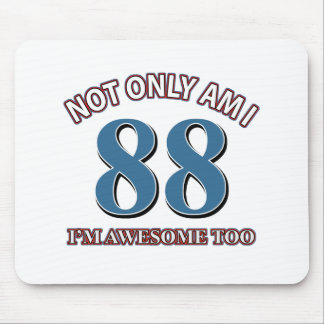 Funny awesome at 88 birthday designs mouse pad