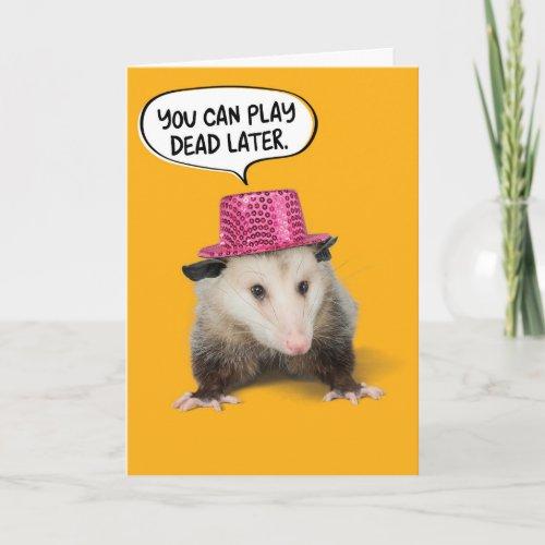 Funny Awesome Possum Birthday Card