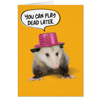 Funny Awesome Possum Birthday Card