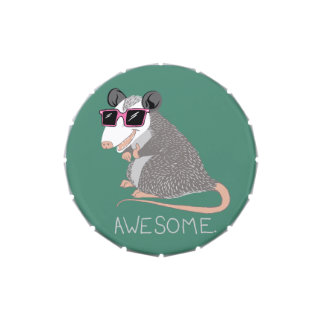 Funny Awesome Possum Candy Tin