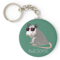 Funny Awesome Possum Keychain