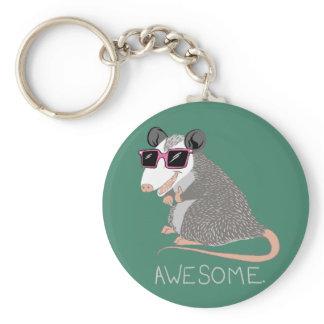 Funny Awesome Possum Keychain