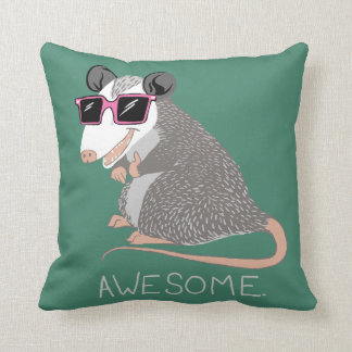 Funny Awesome Possum Throw Pillow