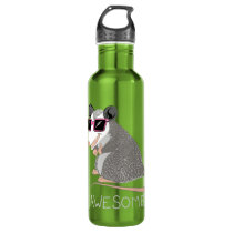 Funny Awesome Possum Water Bottle