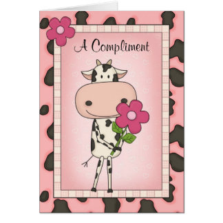 Funny Awkward Country Style I Love You Cartoon Cow Greeting Cards