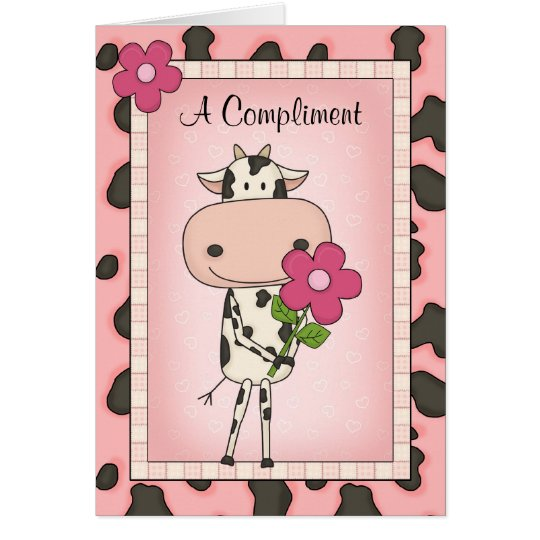 Funny Awkward Country Style I Love You Cartoon Cow Card