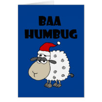 Funny Baa Humbug Christmas Cartoon Card