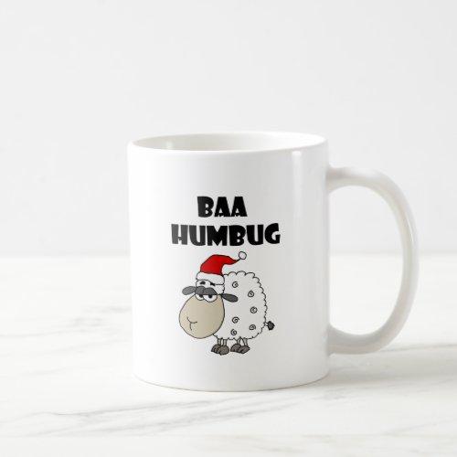 Funny Baa Humbug Christmas Cartoon Coffee Mug