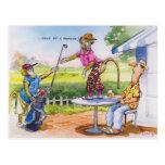 Funny Baboons Postcard
