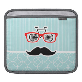 Funny Baby Blue Hipster Mustache Sleeve For iPads