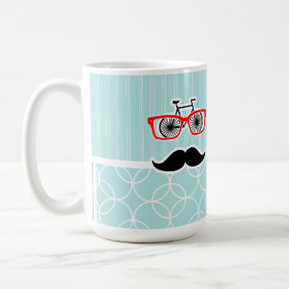 Funny Baby Blue Hipster Mustache Mug